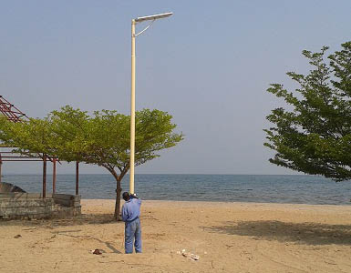 Application of all in one integrated solar street light