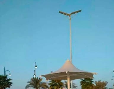 Application of all in one solar street light
